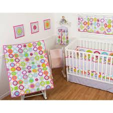 sumersault circle dots 9 piece nursery in a bag crib bedding set with bonus per com