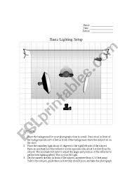 Basic Lighting English Worksheets Photography Basic Lighting Setup