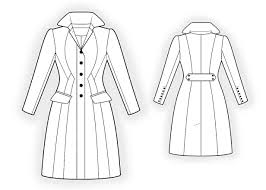 Coat Sewing Patterns Best Waisted Coat Sewing Pattern 48 Madetomeasure Sewing Pattern