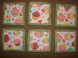 Use favorite fabrics from your scrap bin or charm pack squares ... & Little Bunny Quilts: Quilted Coaster Tutorial Adamdwight.com