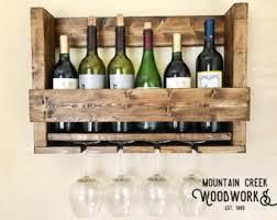 Wine Shelf, Wine Rack, Wine Glass Rack, Wooden Wine Shelf, Wooden Wine