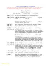 Basic Resume For College Student New Graduate Nurse Resume Examples