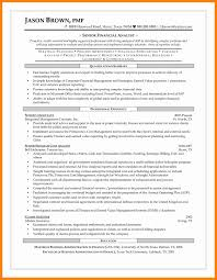7 Financial Analyst Resume Objective Letter Signature