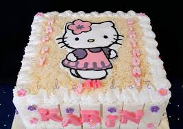 Resep Birthday Cake Hello Kitty Oleh Ida Idot Dapur Shabyra Cookpad