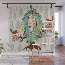 feather fantasy woman / girl Wall Mural ...