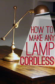 cordless lighting fixtures. How To Make Any Lamp Cordless Lighting Fixtures