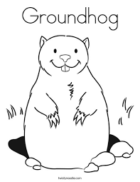 Small Picture Groundhog Coloring Page Twisty Noodle