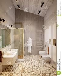 Rustikaler Provence Dachboden Badezimmer Dusche Wc Raum Stock
