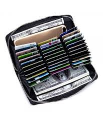 leather credit holder wallet blocking
