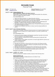 Resume Achievements Awesome Personal Profile Examples For Resumes