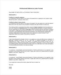 Professional Reference Letter Format