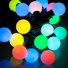 ball fairy lights. noma 5.7m length of 20 multi colour indoor \u0026 outdoor changing led ball fairy lights black cable