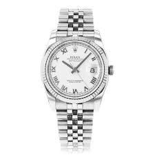rolex datejust watches pre owned the watch gallery® pre owned rolex gents datejust automatic steel gold white dial mens watch 116234