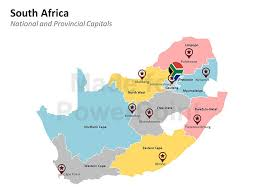South Africa Map Template For Powerpoint Presentations