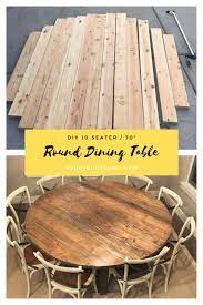 diy 70 round dining table honey