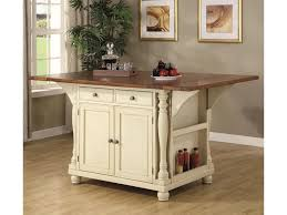 Coaster Kitchen Carts Two Tone Kitchen Island With Drop Leaves
