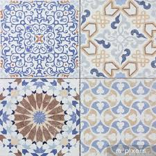 beautiful old ceramic tile wall patterns in the park public vinyl wall mural textures