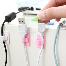 usb cable clip desk tidy organiser wire lead usb cable holder
