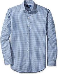 Amazon Brand Buttoned Down Mens Fitted Pattern Dress Shirt Supima Cotton Non Iron