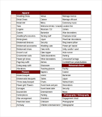 Wedding Excel Checklist Wedding Checklist Template 20 Free Excel Documents Download