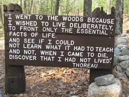 Image result for about his time living near Walden Pond, a lake in Concord, Massachusetts.