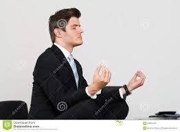 meditation businessman office. Businessman Doing Meditation In Office O