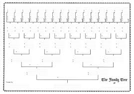 blank pedigree chart 4 generation blank family tree template yahoo image search results fillable