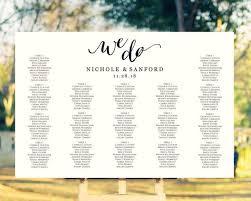 Diy Wedding Seating Chart Poster Wedding Ideas