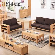 rafi heights nordic wood sofa combination of thick legs nordic wood sofa fabric sofa combination of