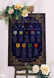 Game Of Thrones Wedding Table Seating Plan Chart Wedfest