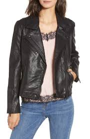 blank nyc black faux leather moto jacket lyst view fullscreen