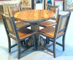 round oak kitchen table sets wonderful rustic wood great glass top dining set 6 chairs for
