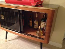 Diy Liquor Cabinet With Black Sliding Glass Door Used Mid Century Modern  Credenza