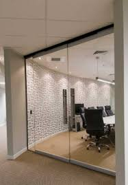 full size glass internal office and conference room made to measure glass doors in derry city