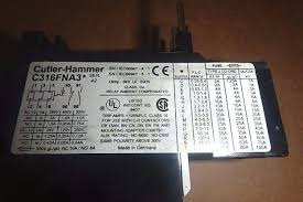 Nib Cutler Hammer Eaton Thermal Overload Relay C316fna3