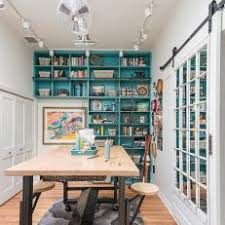 eclectic crafts room. Interesting Eclectic Eclectic Crafts Room With Turquoise Booksehlf Intended C