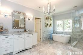 Bathroom Crown Molding Best Raleigh Glass And Mirror Great Traditional Master Bathroom With