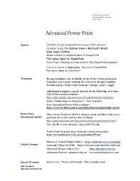 Powerpoint Resume Template Resume Template Resume Cv Powerpoint