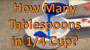 how many tablespoons in 1 4 cup