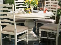 paula deen home linen 54 round pedestal dining table
