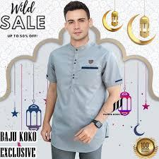 10 rekomendasi baju lebaran terbaik untuk pria terbaru tahun 2021 tak hanya wanita. Harga Baju Koko Kekinian Terbaik Atasan Muslim Pria Fashion Muslim Mei 2021 Shopee Indonesia