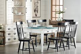 black dining room furniture sets. Farmhouse Dining With Black Spindle Chairs Room Furniture Sets E
