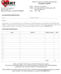 Fundraiser Pledge Form Template Free Pledge Form Template Zakly Info