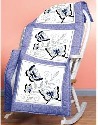 Janlynn Butterfly Quilt Blocks - Stamped Cross Stitch Kit 021-1458 ... & Butterfly Quilt Blocks - Stamped Cross Stitch Kit Adamdwight.com