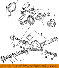Ford ranger front end parts diagram luxury ford oem rear differential pinion seal br3z4676a