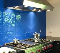 kitchen blue glass backsplash. Blue Glass Backsplash Kitchen And Stainless Steel  Vent Hood In Modern .