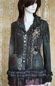 Steampunk jacket - extravagant reworked vintage jacket, wearable ...