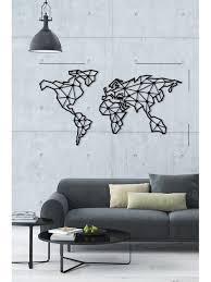 indoor decorative metal wall art world map