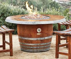 View in gallery Outdoor fire pit made from an old wine barrel