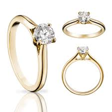 cartier wedding rings. Solitaire 1895 diamond ring in yellow gold Cartier The Jewellery
